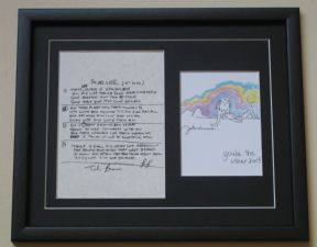 THE BEATLES JOHN LENNON - IN MY LIFE HAND WRITTEN LYRICS - YOU'RE THE OTHER HALF PRINT